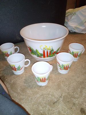 Milk glass Christmas style punch bowl. for Sale in Pittsburg, CA