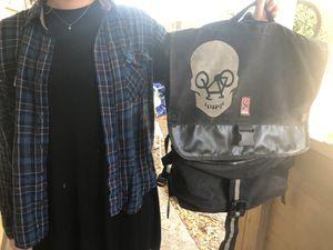 Chrome Old School Flaptop Backpack Style Messenger Bag! for Sale in Orlando, FL
