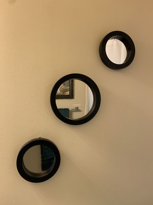 Set of Three Brown Circle Mirrors from IKEA for Sale in Arlington, VA