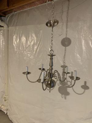 5 light brushed nickel chandelier for Sale in Coraopolis, PA