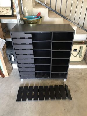 Storage Cabinet - holds 24 pairs of shoes for Sale in Austin, TX