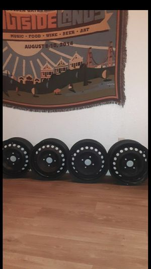 "Black 4 lug rims 15"" for Sale in Oro Valley, AZ"