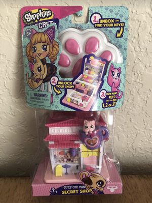 Shopkins Lil' Secrets Cute Cat Cafe Secret Shop NEW $5 for Sale in Pembroke Pines, FL