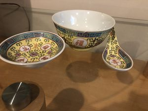 Vintage chinese chinese porcelain, hand painted design for Sale in Chicago, IL