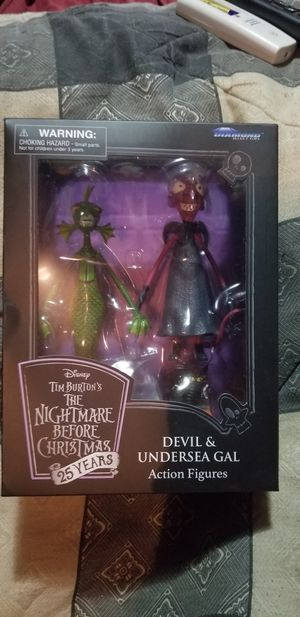 The nightmare before Christmas devil and undersea gal for Sale in Monroe, MI