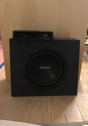KENWOOD 10 inch car subwoofer and 1000w amplifier for Sale in Encinitas, CA