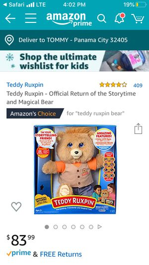 Teddy Ruxpin(reduced) for Sale in Panama City, FL