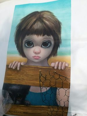 """1962 oil painting """"Big Eyes"""" for Sale in Suttons Bay, MI"""