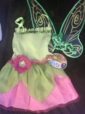Tinkerbelle costume dress w/ wings for Sale in East Peoria, IL