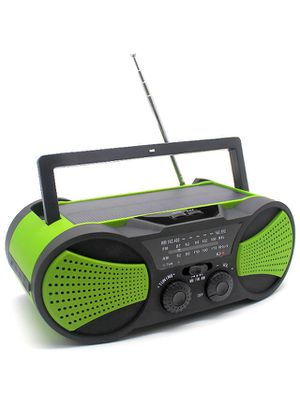 Emergency Solar Portable Weather Radio with Crank Charge, SOS Alarm, 3W Flashlight, Reading Lamp & 4000mAh Power Bank for Survival, Camping and Outdo for Sale in Irvine, CA