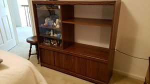 Free wood cabinet /bookshelves for Sale in Chantilly, VA