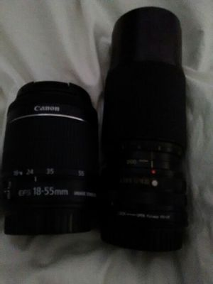 Canon 80-200 mm camera lens extension with image stabilizer (18-55mm) for Sale in Arnold, MO
