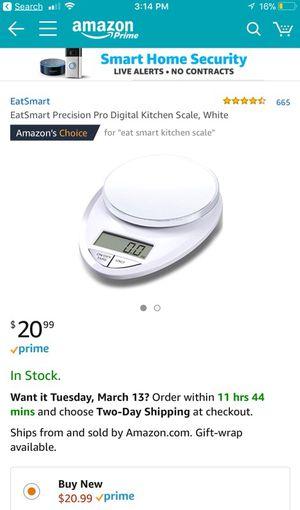 EatSmart precision pro digital kitchen scale for Sale in Orlando, FL