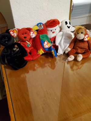 Make me a reasonable offer Beanie Babies Mint Condition TY Tag still on I have 6 popular ones for Sale in Las Vegas, NV