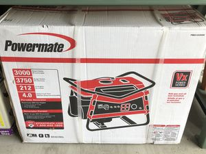 Powermate portable generator 3000 still in box never used for Sale in Vancouver, WA