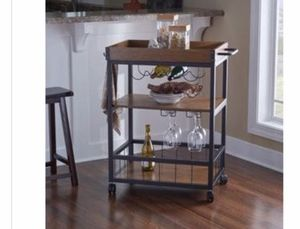 Brand new - wooden bar wine cart for Sale in Austin, TX