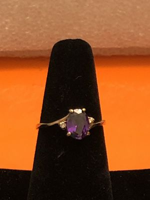 10k gold amethyst &diamond ring,2.17 grams, Size 6.5, please look at all pictures for more details for Sale in Aurora, IL