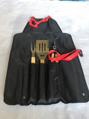 BBQ Tool Set with Apron for Sale in Reno, NV