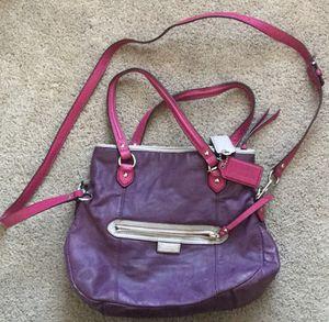 Coach purple purse for Sale in Germantown, MD