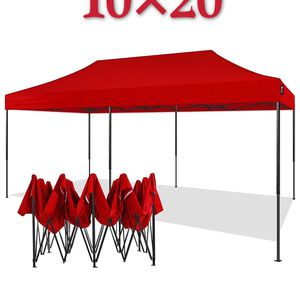 New 💲160 Pop Up Canopy Tent 10x20 Commercial Instant Canopies with Heavy Duty 10 x 20 for Sale in Ontario, CA