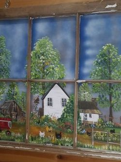 Hand Painted 6 Pane Window Frame for Sale in North Port,  FL