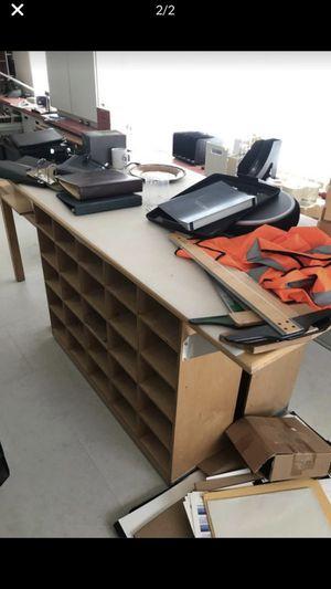 Workshop crafts kitchen island tables organizer shelves table real solid wood for Sale in Plantation, FL