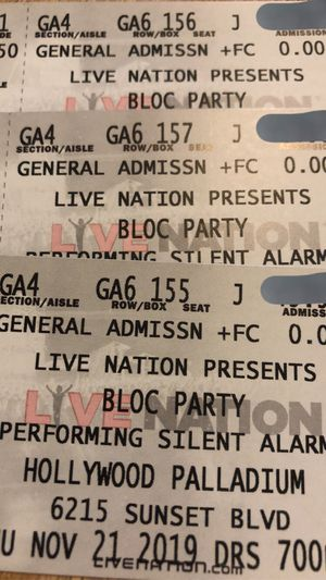Bloc Party @ the Palladium ToNiGHT‼️ for Sale in Los Angeles, CA