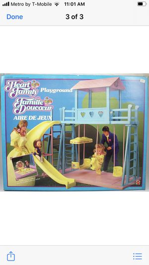 Vintage 1985 Heart Family Playground Swing Set for Sale in Frisco, TX