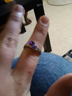 Silver ring with purple gemstone for Sale in Hannibal, MO