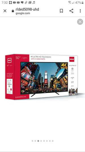"""RCA 4K 50"""" ULTRA HD TELEVISION for Sale in Lawrence, KS"""