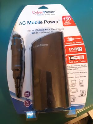 Car charger for electronics with USB and regular power for Sale in Indianapolis, IN