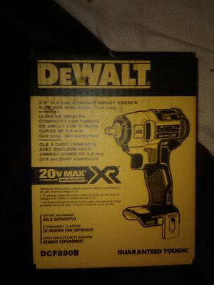 """DeWalt 3/8"""" Compact Impact Wrench with Hog Ring Anvil for Sale in San Bernardino, CA"""