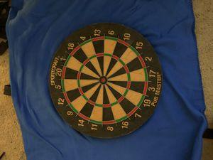 "Sportcraft ""Pub Master "" regulation size dart board. Good condition , hit that triple 20 or bullseye , high quality bristle for Sale in Santa Ana, CA"
