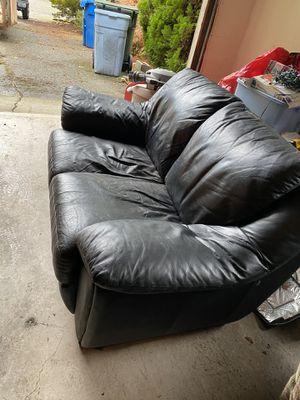 Estate sale: leather love seat, book cases, furniture, books, toys, kitchen stuff, TVs DVD's & more for Sale in Enumclaw, WA