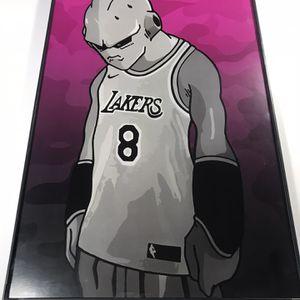 Lakers Kobe Jersey Majin Buu Print Only No Frame Included for Sale in Santa Monica, CA