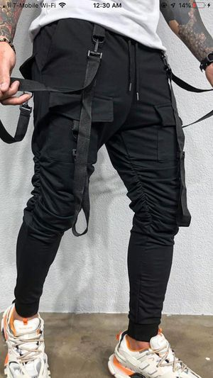 Black strap jogger pants new with tags couple sizes only left now store pick up for Sale in Los Angeles, CA