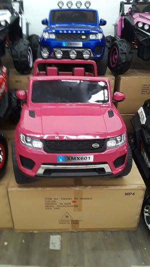 New pink range rover style kids electric ride on suv car rideon toy truck powerwheel with remote for Sale in Houston, TX