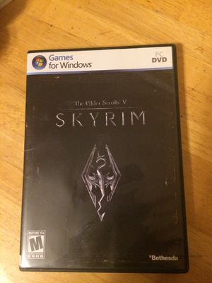 Skyrim V for PC never used in mint condition for Sale in Tempe, AZ