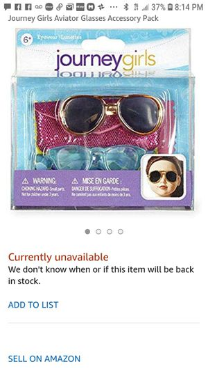 Journey girls aviator and cat glasses new for Sale in Renton, WA