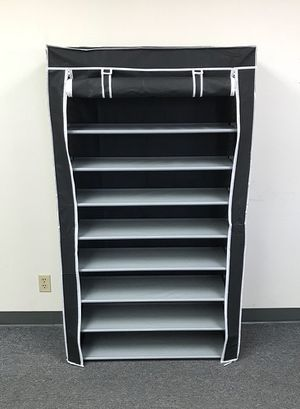 """New $25 each 10-Tiers 45 Shoe Rack Closet with Fabric Cover Storage Organizer Cabinet 36x12x62"""" for Sale in Pico Rivera, CA"""