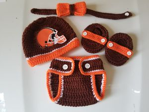 Crochet Baby Boy Cleveland Browns Football for Sale in Plant City, FL