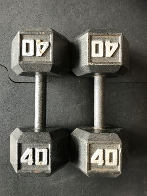 Hex Dumbbells (2x40s) for $50 Firm!!! for Sale in Burbank, CA