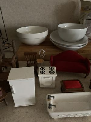 vintage doll house furniture for Sale in Humble, TX