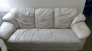 White leather Couch for Sale in Webster Groves, MO