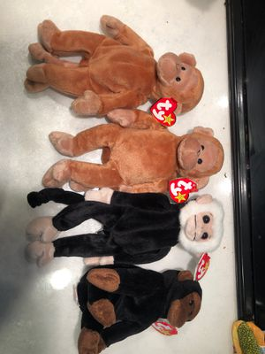 Monkey collection beanie babies for Sale in Covington, WA