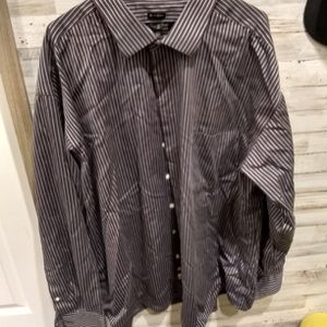 Pronto Uomo Men's Brown With Blue Stripe Size 3X. Box 15 for Sale in Cleveland, TX