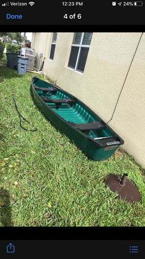 3 person canoe with electric motor for Sale in Lake Worth, FL