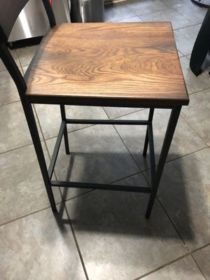 """Crow works bar stool 30""""square back metal frame wood seat Starbucks (NEW) 2 available for Sale in Roswell, GA"""
