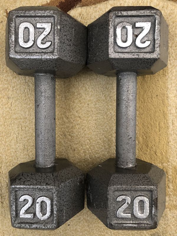 CAP Barbell Cast Iron Hex Dumbbell, 20lbs