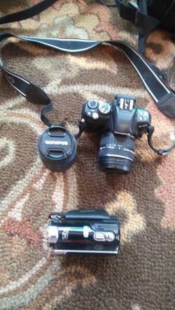 Olympus DSLR/Samsung videocam for Sale in Aurora,  CO